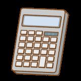 電卓のフリーイラスト Clip art of calculator