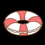 浮き輪のフリーイラスト Clip art of floating-ring