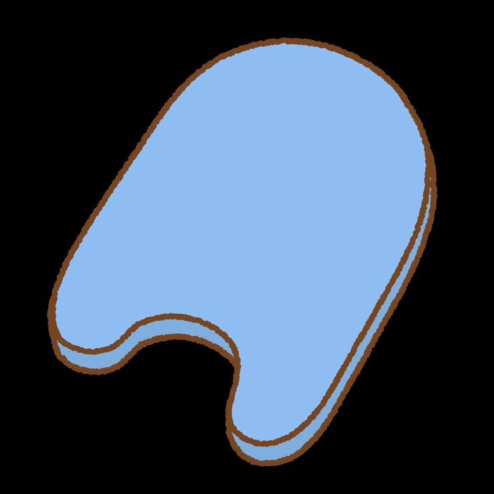 ビート板のフリーイラスト Clip art of flutter board