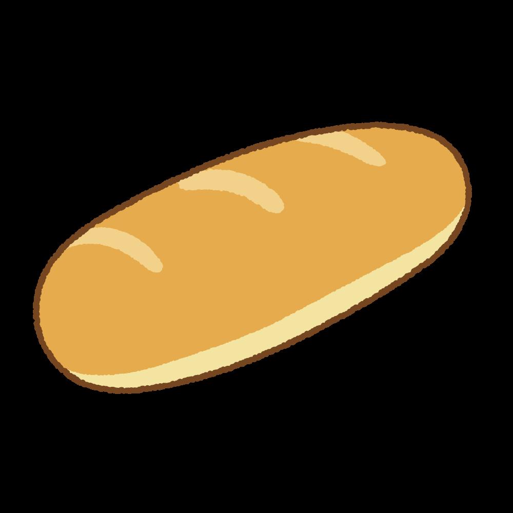コッペパンのフリーイラスト Clip art of koppepan