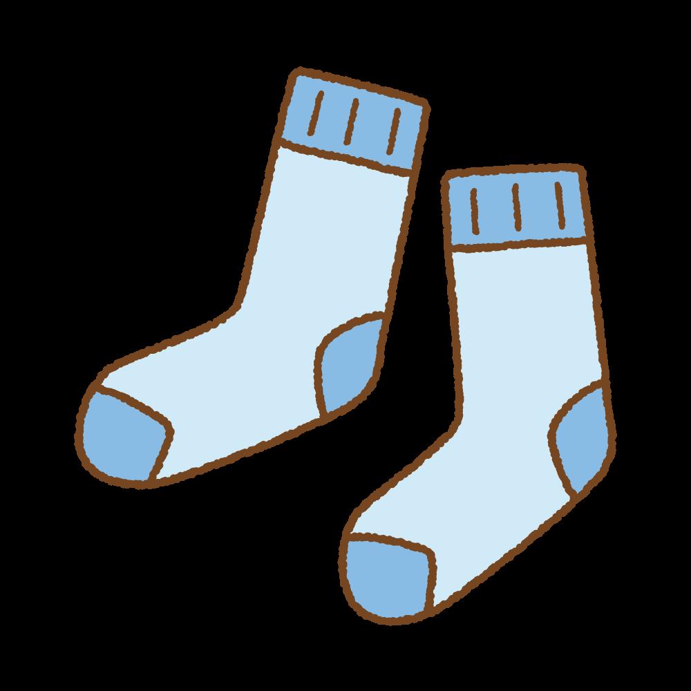 青の靴下のフリーイラスト Clip art of blue socks