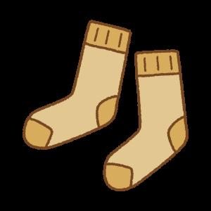 茶色の靴下のフリーイラスト Clip art of brown socks