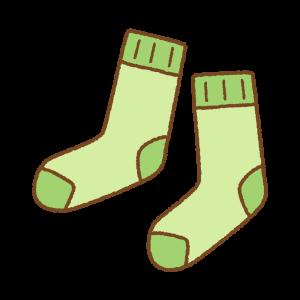 緑の靴下のフリーイラスト Clip art of green socks