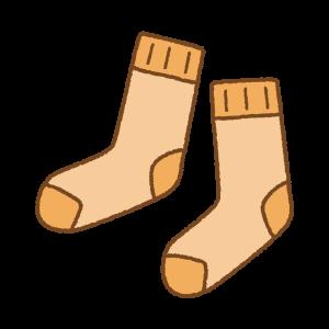 オレンジの靴下のフリーイラスト Clip art of orange socks