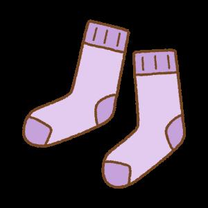 紫の靴下のフリーイラスト Clip art of purple socks