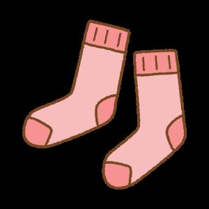 赤い靴下のフリーイラスト Clip art of red socks