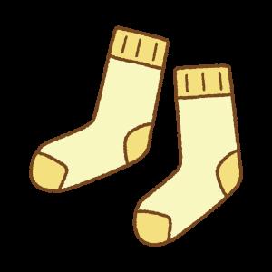 黄色い靴下のフリーイラスト Clip art of yellow socks