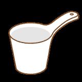 手桶のフリーイラスト Clip art of teoke