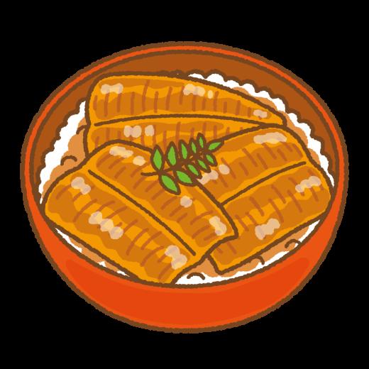 鰻丼のイラスト