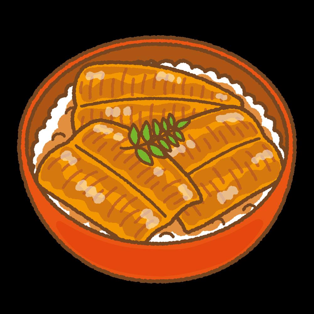 鰻丼のフリーイラスト Clip art of unadon