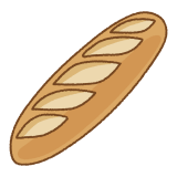 ベーグルのフリーイラスト Clip art of baguette