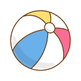 ビーチボールのフリーイラスト Clip art of bearch ball