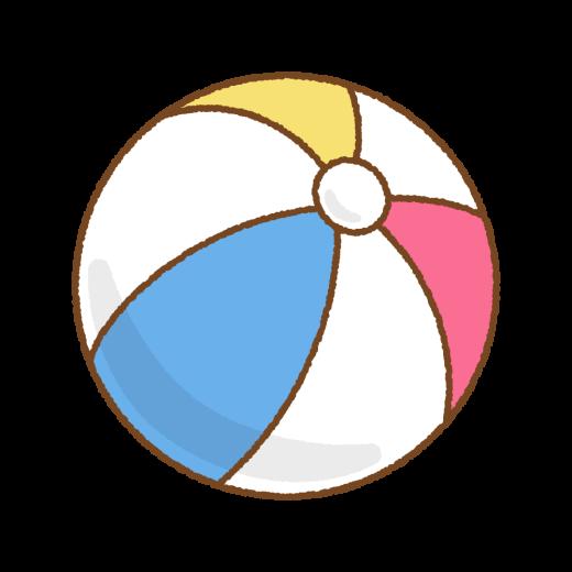 ビーチボールのイラスト