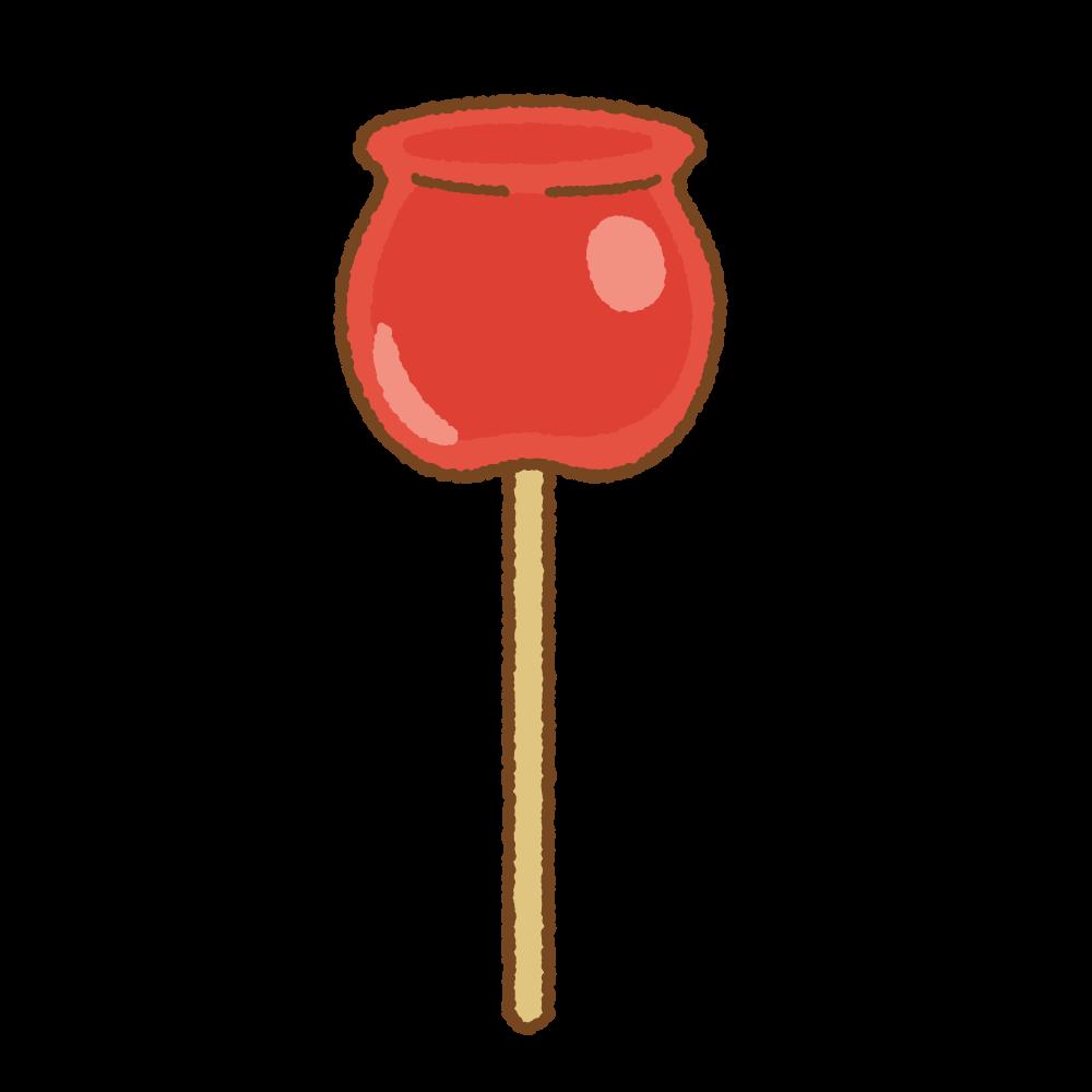 りんご飴のフリーイラスト Clip art of candy-apple