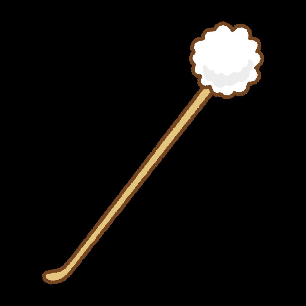 耳かきのフリーイラスト Clip art of earpick