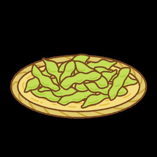 枝豆のイラスト