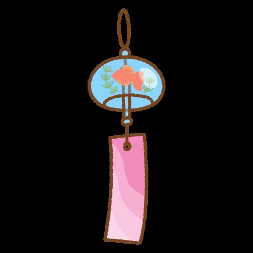 風鈴(金魚)のイラスト