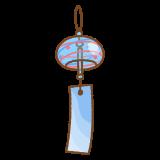 風鈴のフリーイラスト Clip art of fuurin