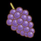 ブドウのフリーイラスト Clip art of grape