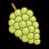 ブドウ(緑)のフリーイラスト Clip art of green grape