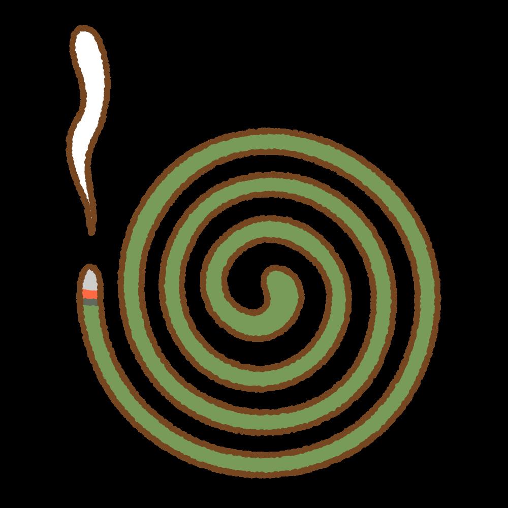 蚊取り線香のフリーイラスト Clip art of mosquito coil