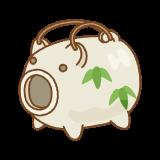 蚊遣豚のフリーイラスト Clip art of kayaributa