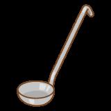 レードルのフリーイラスト Clip art of ladle