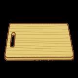 木のまな板のフリーイラスト Clip art of wood cutting-board