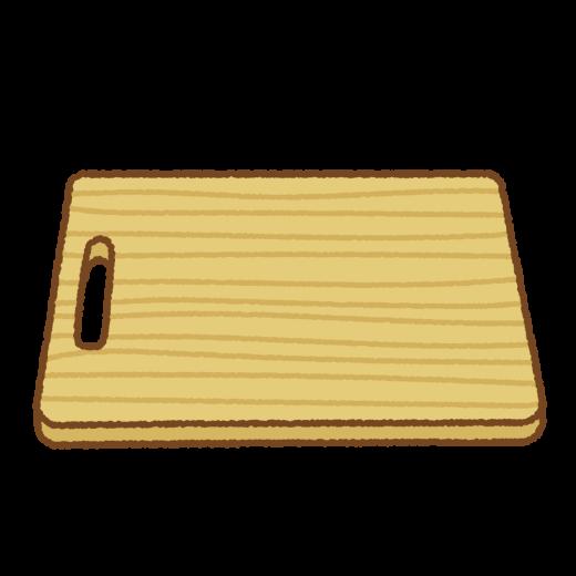 木のまな板のイラスト
