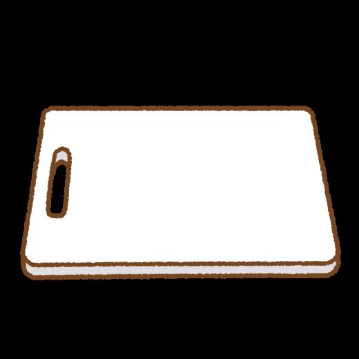 プラスチックのまな板のイラスト
