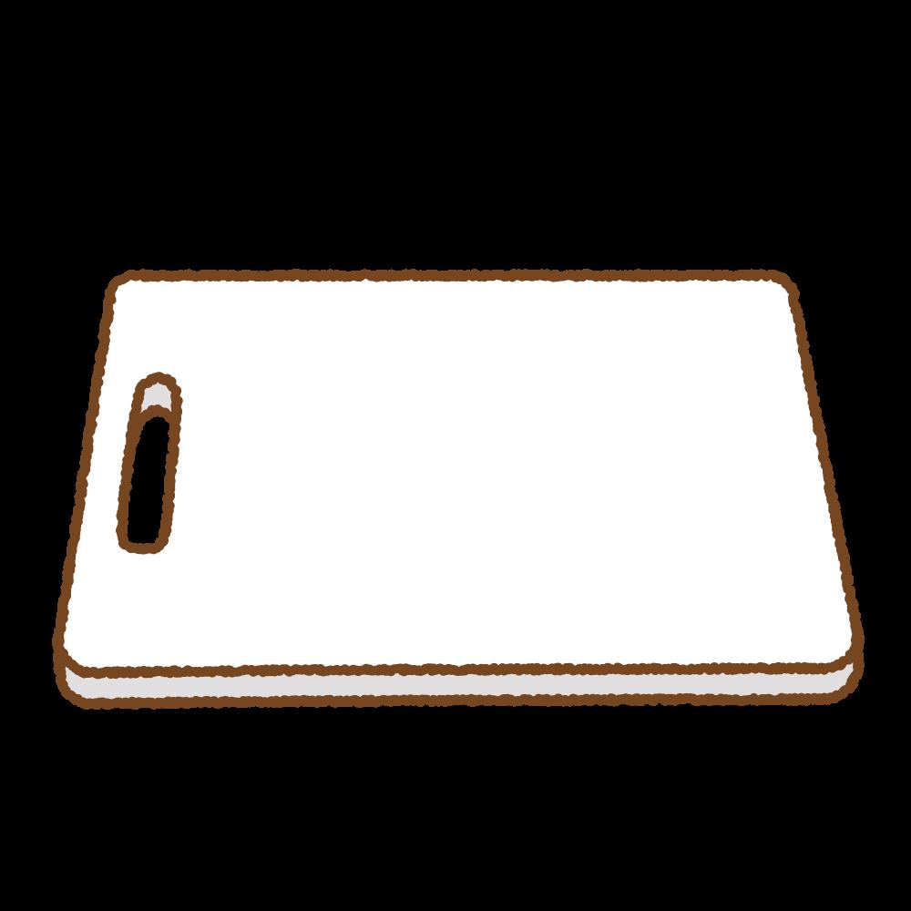 プラスチックのまな板のフリーイラスト Clip art of plastic cutting-board