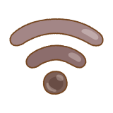 タピオカのWi-Fiマークのフリーイラスト Clip art of tapioca wi-fi mark