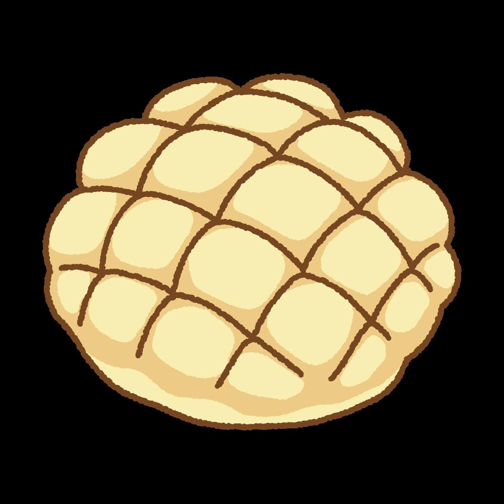 メロンパンのフリーイラスト Clip art of melon-pan