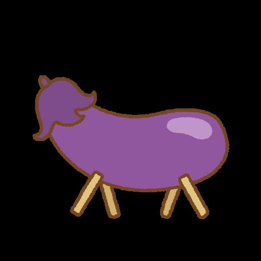 精霊馬(ナス)のイラスト