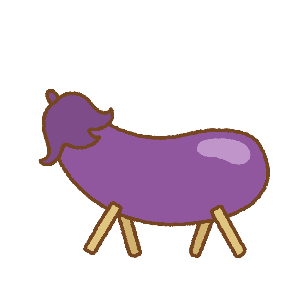精霊馬のフリーイラスト Clip art of shouryouuma