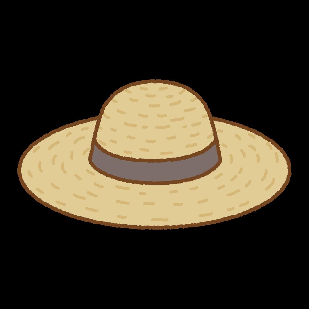 麦わら帽子のフリーイラスト Clip art of straw-hat