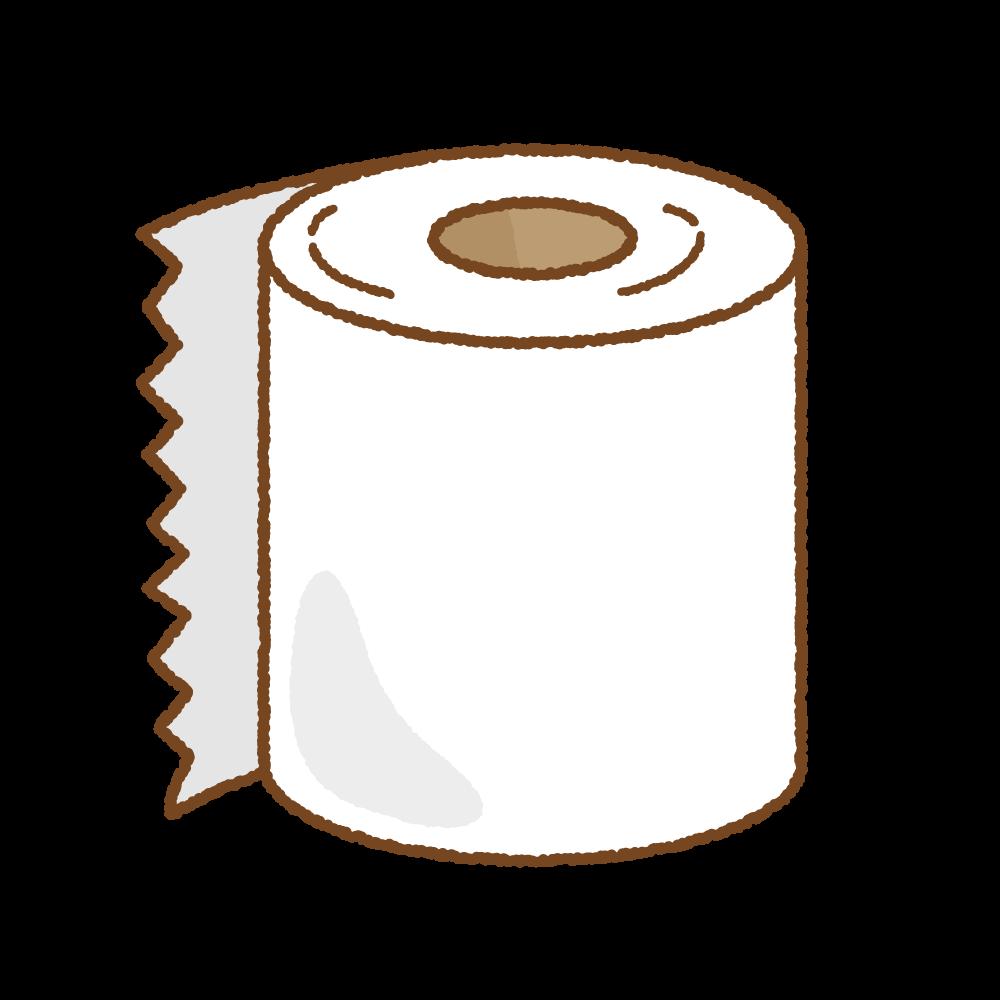 トイレットペーパーのフリーイラスト Clip art of toilet-paper