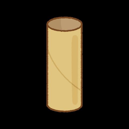トイレットペーパーの芯のイラスト