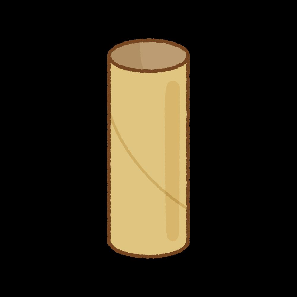トイレットペーパーの芯のフリーイラスト Clip art of toilet-paper tube