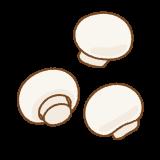マッシュルームのフリーイラスト Clip art of agaricus-bisporus