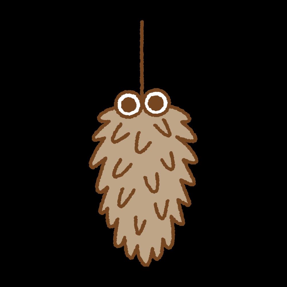 ミノムシのフリーイラスト Clip art of bagworm
