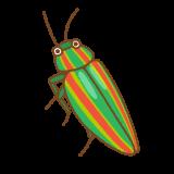 タマムシのフリーイラスト Clip art of buprestidae