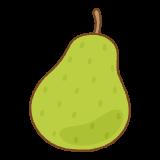 洋梨のフリーイラスト Clip art of european-pear