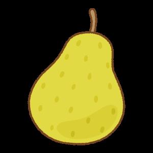 熟した洋梨のイラスト