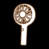 携帯扇風機のフリーイラスト Clip art of hansy fan