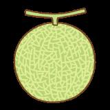 メロンのフリーイラスト Clip art of melon