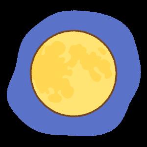 満月のフリーイラスト Clip art of moon