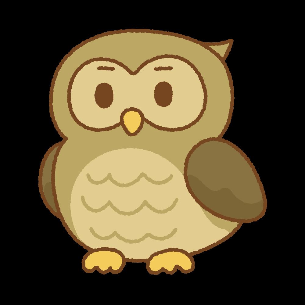 フクロウのフリーイラスト Clip art of owl