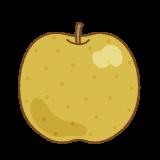梨のフリーイラスト Clip art of pear
