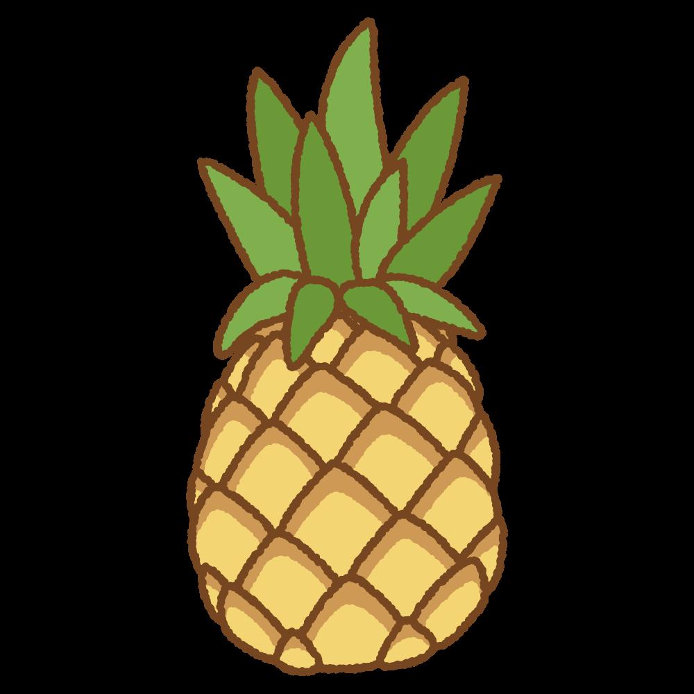 パイナップルのフリーイラスト Clip art of pineapple
